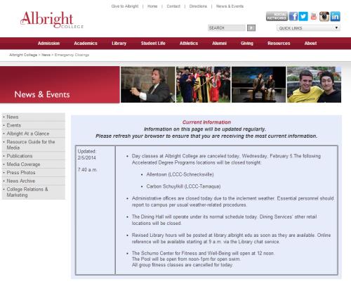 Albright Closed