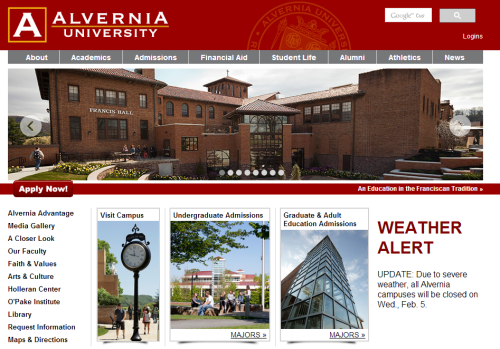 Alvernia Closed