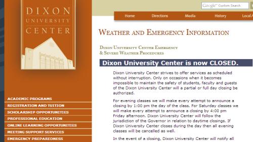 Dixon Closed