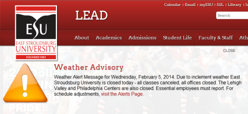 ESU Closed