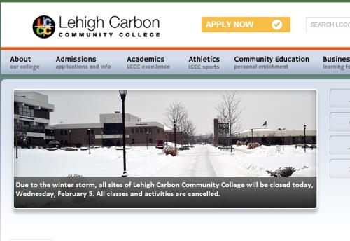 LCCC Closed